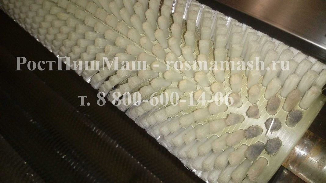 Щеточные валы мягких щеток на Машину для полировки и мойки корнеплодов GB-1000