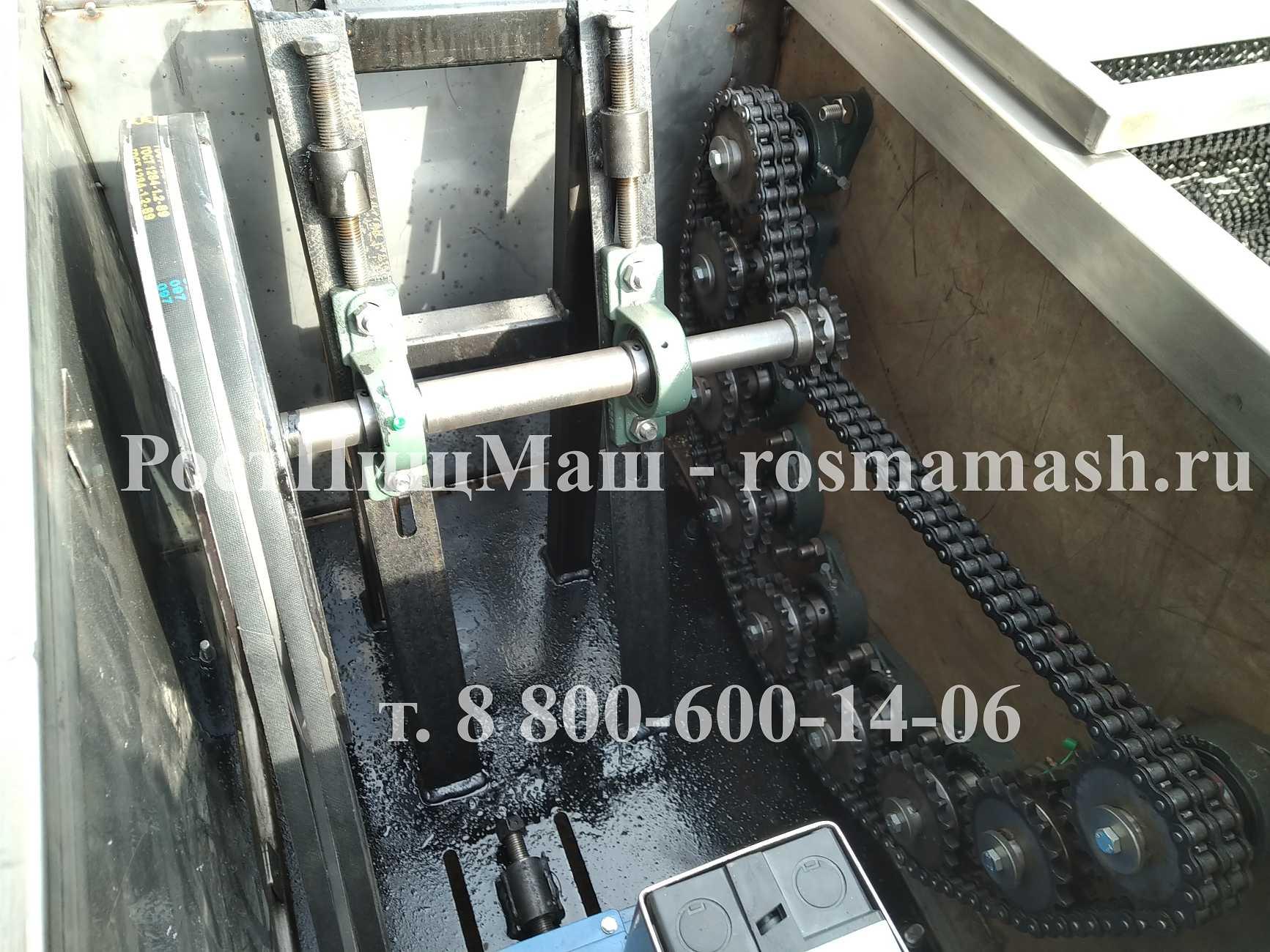 Машина для полировки и мойки корнеплодов РПМ-МЧ-1000