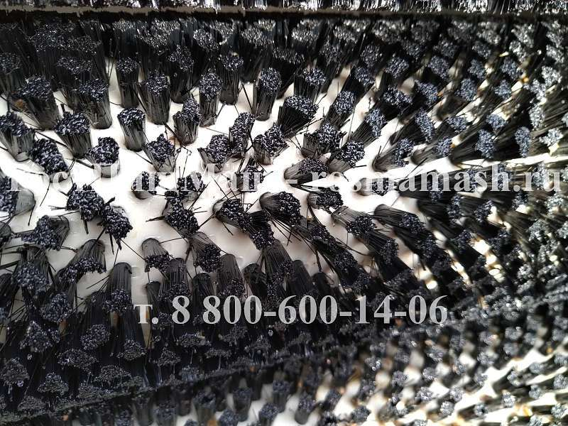 Щеточные валы мягких щеток на Машину для полировки и мойки корнеплодов РПМ-МЧ-1000