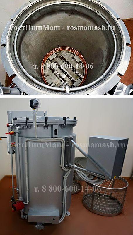 Автоклав для консервирования ИПКС-128-500Рг с регистратором