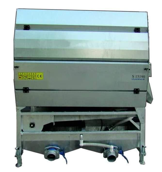 Машина щеточная для  чистки овощей S-7190 и S-9190 eco