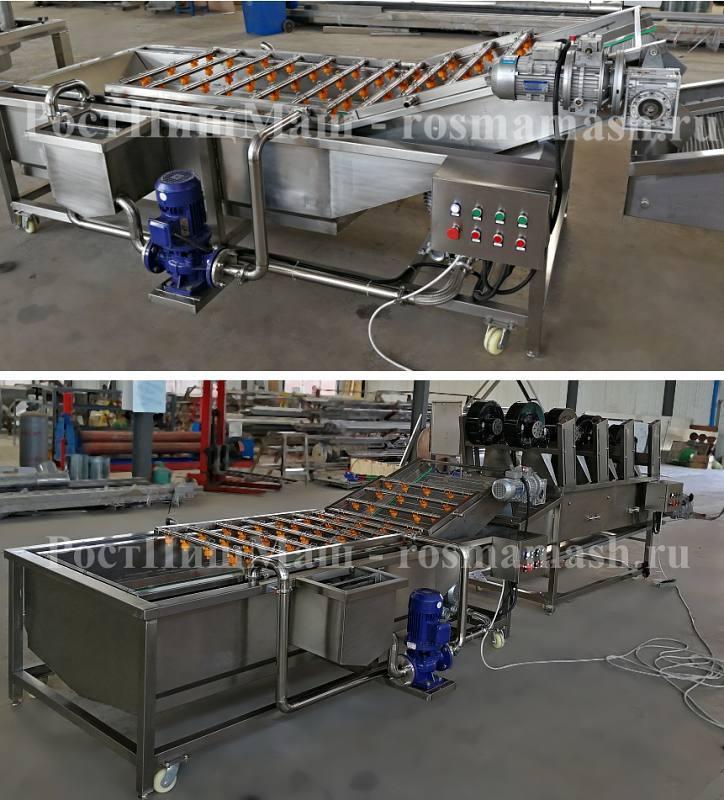 Машина для мойки овощей и фруктов GB 2000 и 2500 безщеточная