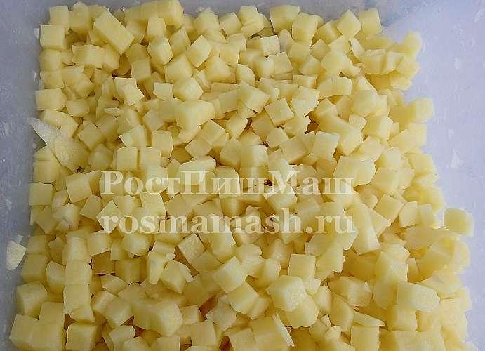 Виды нарезки картофеля на Машине нарезки зелени овощей и корнеплодов DQC-613D
