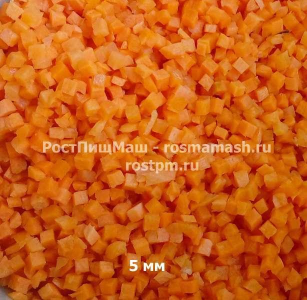 Нарезка моркови на 5 мм на Машине CHD-100