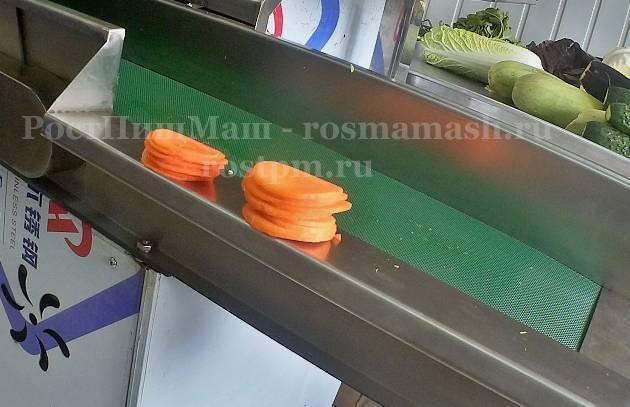 Шинковка овощей на Ленточной овощерезке RY-80