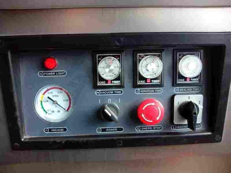 Внешний вид панели управления Вакуумной машины DZ-510/2SB