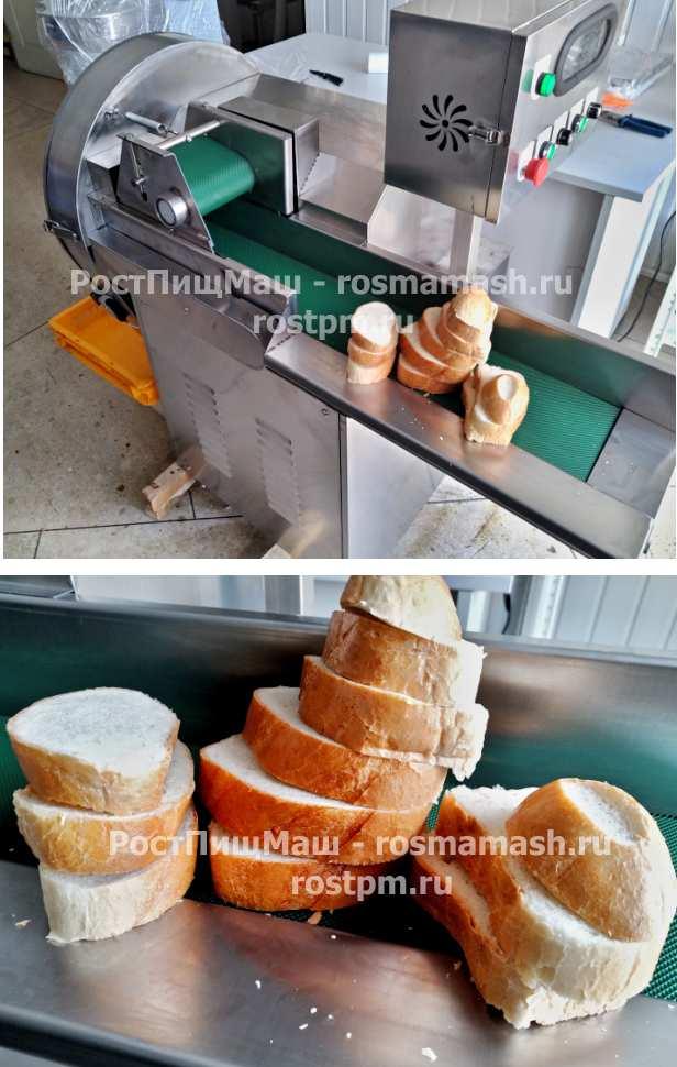 Машина промышленной нарезки хлеба RY-80 с транспортером на 900 мм