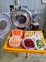 Фото Машины нарезки овощей-фруктов CHD-100 на кубик, соломку